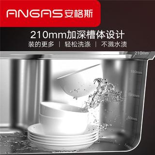 HIGOLD/悍高加厚304不锈钢单槽厨房家用洗菜盆水池洗碗池拉伸水槽