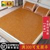 春龙麻将凉席新款布牛筋碳化1.8m床折叠双人1.5米夏季竹席子定做