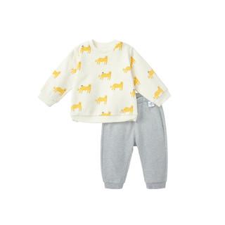 迷你巴拉巴拉男宝宝长袖卫衣卫裤套装春秋装婴儿宽松可爱儿童套装