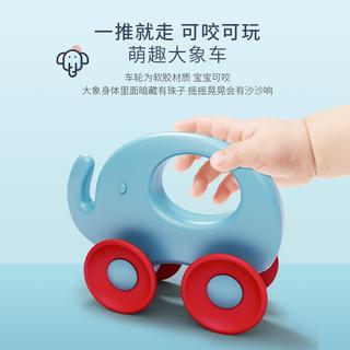 婴儿手摇铃可水煮咬安抚抓握玩具套装6个月1岁新生儿宝宝牙胶益智