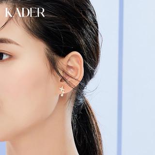 KADER 卡蒂罗 耳环女2021新款潮韩国气质网红纯银耳钉个性简约小巧冷淡风