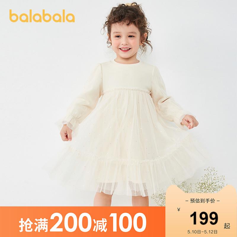 Balabala 巴拉巴拉 儿童连衣裙 5504烟灰卡 110cm