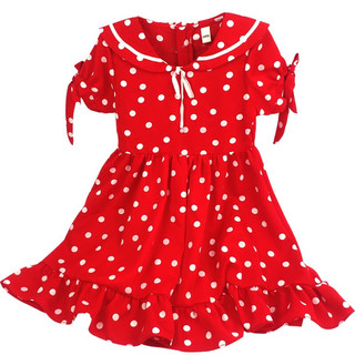 AIERYIZU  爱儿一族 波点连衣裙