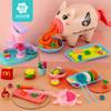 无毒彩泥小猪面条机儿童玩具套装橡皮泥超轻黏土手工diy工具女孩