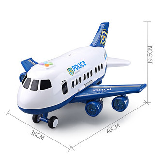 Yu Er Bao 育儿宝 变形音乐故事飞机玩具(含6合金车+11件路标)