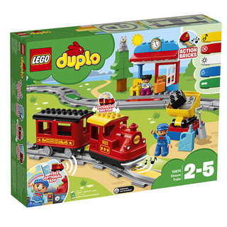 百亿补贴 : LEGO 乐高  DUPLO 得宝系列 10874 智能蒸汽火车