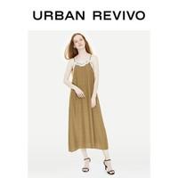URBAN REVIVO YU32S7AN2008 女士蕾丝V领连衣裙