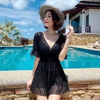 YUKE 羽克 游泳衣女夏2021年新款时尚显瘦遮肚保守大码ins仙女范女士泡温泉