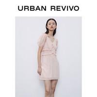 URBAN REVIVO YU32S7EE2000 女款收腰连衣裙