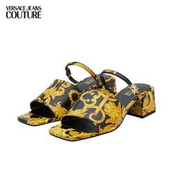 VERSACE 范思哲 范思哲Versace Jeans Couture 奢侈品21春夏女士凉鞋 E0VWAS33-71982 BLKPRINT-M27黑色印花 39