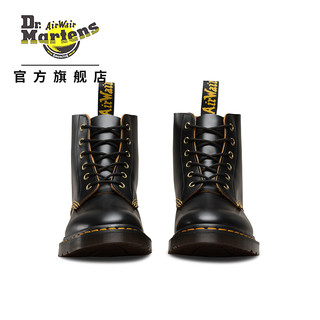 Drmartens马汀博士官方旗舰店黑色光面皮6孔马丁靴复古短靴靴子