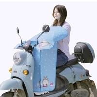 途岭 电动车防水挡风被 蓝色龙猫款