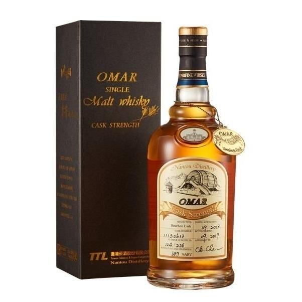 OMAR 傲玛 原桶强度 单一麦芽威士忌酒  波本桶/雪莉桶 (年份随机)700ml