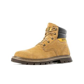 CAT 卡特彼勒 休闲工鞋男鞋 潮流低帮舒适户外休闲工装靴马丁靴鞋子男 P724054J3BDC36 棕色 41