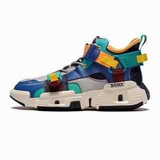 新品舒适耐磨男式球鞋运动鞋篮球鞋 阴影灰/星球蓝 41