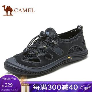CAMEL 骆驼 骆驼(CAMEL) 凉鞋包头潮流舒适防滑网面休闲沙滩鞋男 A122309242 黑色 40