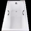 KOHLER 科勒 百利事系列 K-17270T-GR 嵌入式铸铁浴缸 1.7m 有扶手孔款