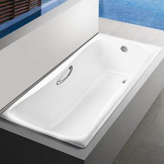 KOHLER 科勒 百利事系列 K-17270T-GR 嵌入式铸铁浴缸 1.5m 有扶手孔
