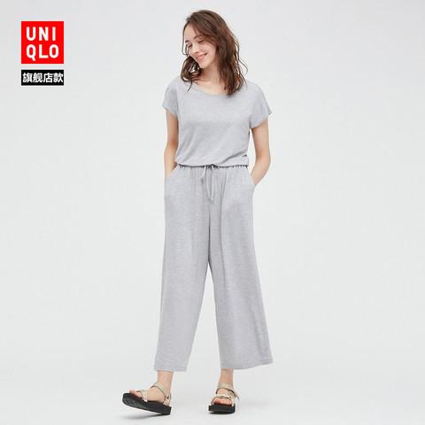 UNIQLO 优衣库 优衣库 女装 花式针织连体装(短袖 家居服 睡裙) 437125 UNIQLO