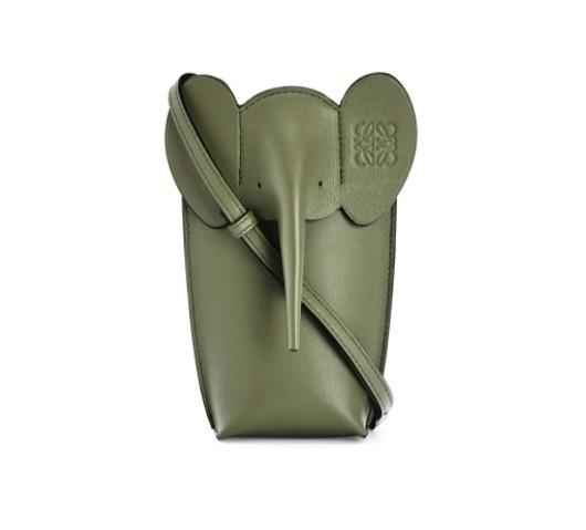 经典牛皮革小象袋 Avocado Green - LOEWE