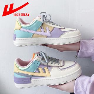 WARRIOR 回力 回力官方旗舰店女鞋夏款2021新款马卡龙空军一号运动板鞋女小白鞋