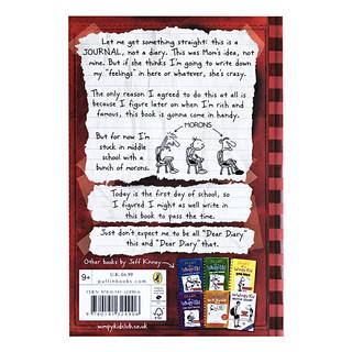 儿童文学 Diary of a Wimpy Kid #1小屁孩日记1进口英文原版小说送音频 美国初中小学生7-12岁课外阅读章节书幽默漫画励志成长推荐阅读 百源国际童书城旗舰店