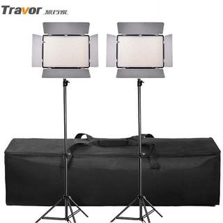 旅行家(Travor)LED摄影灯补光灯影视灯光600AS 演播室摄像灯 直播柔光灯人像静物影棚套装 双灯套装