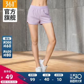 361° 361度 361运动短裤女夏季薄款综训热裤女子印花休闲裤百搭显瘦透气裤子