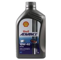 Shell 壳牌 欧洲进口 壳牌(Shell) 全合成机油 Advance Ultra 10W-40 1L/桶 爱德王子四冲程摩托车机油