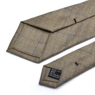 韩版窄款手打领带男士正装商务休闲质感职业格纹领带