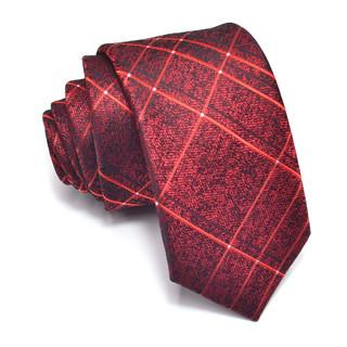 经典格纹领带男女韩版休闲窄款7厘米手打领带酒店4S店