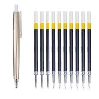 M&G 晨光 AGPH3701 按动中性笔 香槟金 0.5mm 单支装+10支中性笔替芯