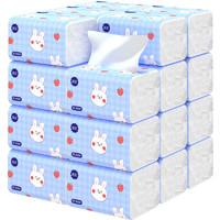 漫花400张大包加量抽纸面巾纸卫生纸家庭实惠装餐巾纸整箱批纸巾 10包【4层*100抽】