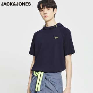 JACK JONES 杰克琼斯 220201531 连帽短袖T恤