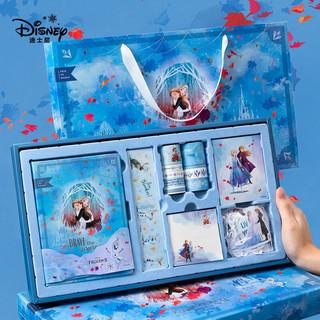 Disney 迪士尼 迪士尼(Disney)手账本礼盒套装 网红ins少女心记事本 学生笔记本文具套装 创意礼品生日礼物 冰雪奇缘蓝色