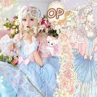 LadyMiaoLolita 喵小姐Lolita LadyMiao 喵咪芭蕾舞 洛丽塔 甜重工连衣裙  珍珠芭比粉 S
