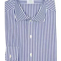 Pinstripe Print Long Sleeve Milano Fit Shirt