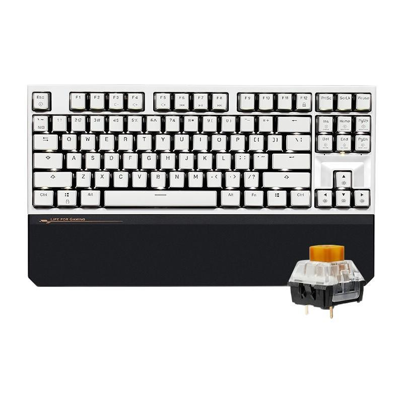 HEXGEARS 黑峡谷 X3 87键 2.4G蓝牙 双模无线机械键盘