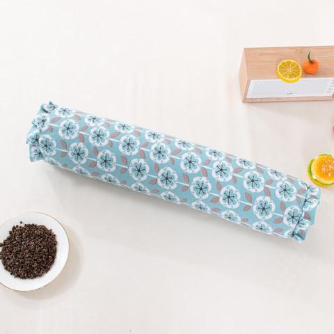 移动端:圣美娜 粗布荞麦皮枕 单只装 (雏菊蓝)12*50cm