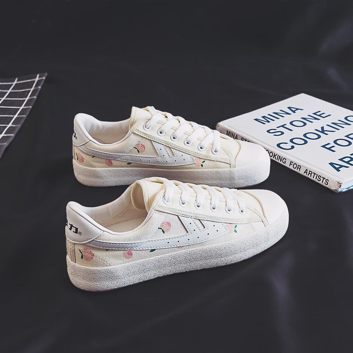 回力 新品帆布鞋爆改低帮运动鞋水果系列学生百搭休闲鞋