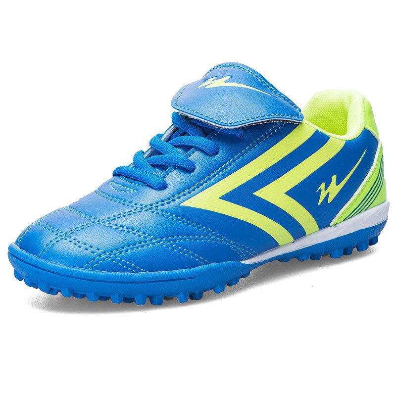 双星  男童足球鞋 宝蓝绿 30码