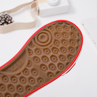 回力童鞋旗舰店手绘儿童帆布鞋女童时尚韩版小白鞋一脚蹬休闲布鞋