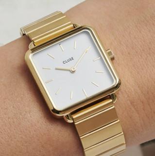 CLUSE La Tétragone天阙系列 28.5毫米石英腕表 CL60024S 金色