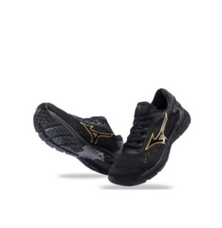 Mizuno 美津浓 RC-01 男子跑鞋 J1CR190050 黑金 40