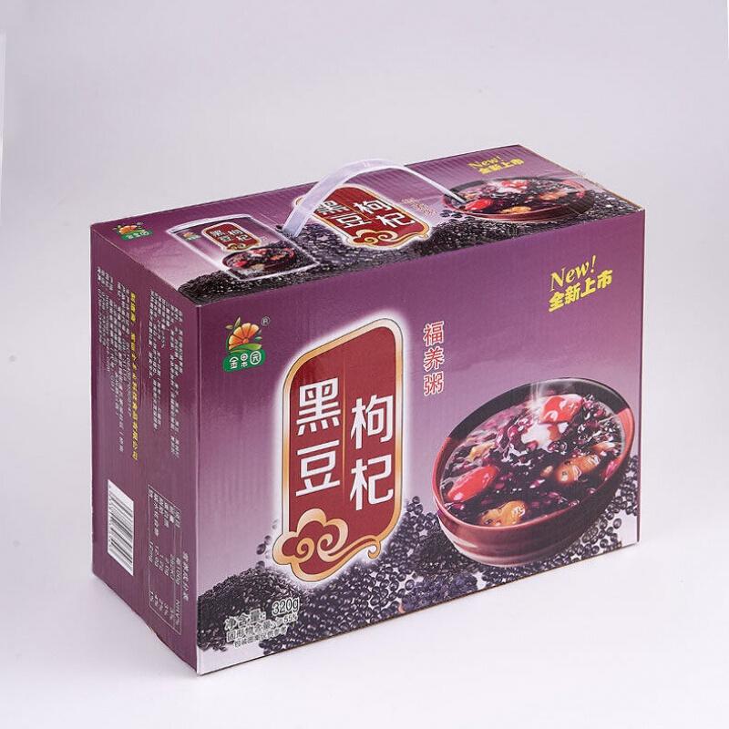 李绅   紫薯黑豆枸杞速食粥整箱批发*12罐