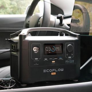 ECOFLOW RIVER Pro 移动电源 黑色 200000mAh 市电充电 车充 太阳能 600W交流+100W直流