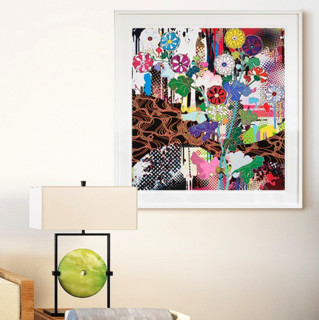 村上隆 光琳系列 《光琳·京都》金银箔 72*76cm 手工装裱 胶版版画 限量300版 日本直邮