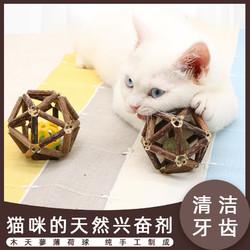 守爱 猫咪玩具木天蓼球磨牙棒猫薄荷球铃铛球幼小猫玲珑球自嗨猫咪用品