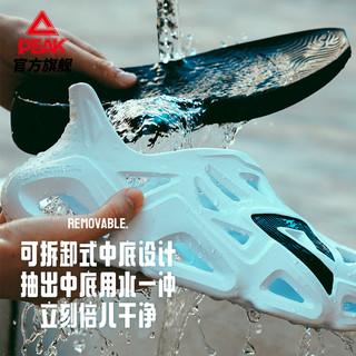 匹克态极洞洞鞋男2021夏季新款软弹舒适透气时尚防水男士凉拖鞋潮 全黑 41