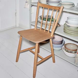 HAY J41座椅 北欧靠背椅子休闲椅办公椅咖啡椅餐椅 哑光木色